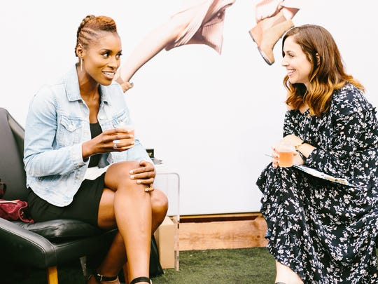 Issa Rae Diop, left, is an American actress, writer,