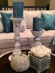 Design the base of your room in neutral color hues, then add your pops of color with pillows, throws, art, candles, etc.