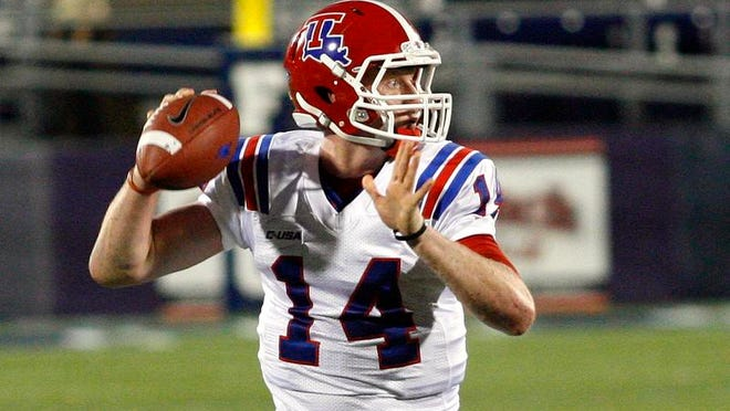 Louisiana Tech quarterback, pictured in this 2013 file photo, was arrested early Friday in Ruston.