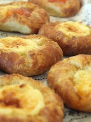 Pastries such as muffins, danish and cupcakes are made with organic ingredients at Sweet Spot Bakeshop, in Clemson.
