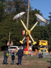 Adults and children enjoyed the rides available on Sertoma Field in Walhalla this year at Oktoberfest.