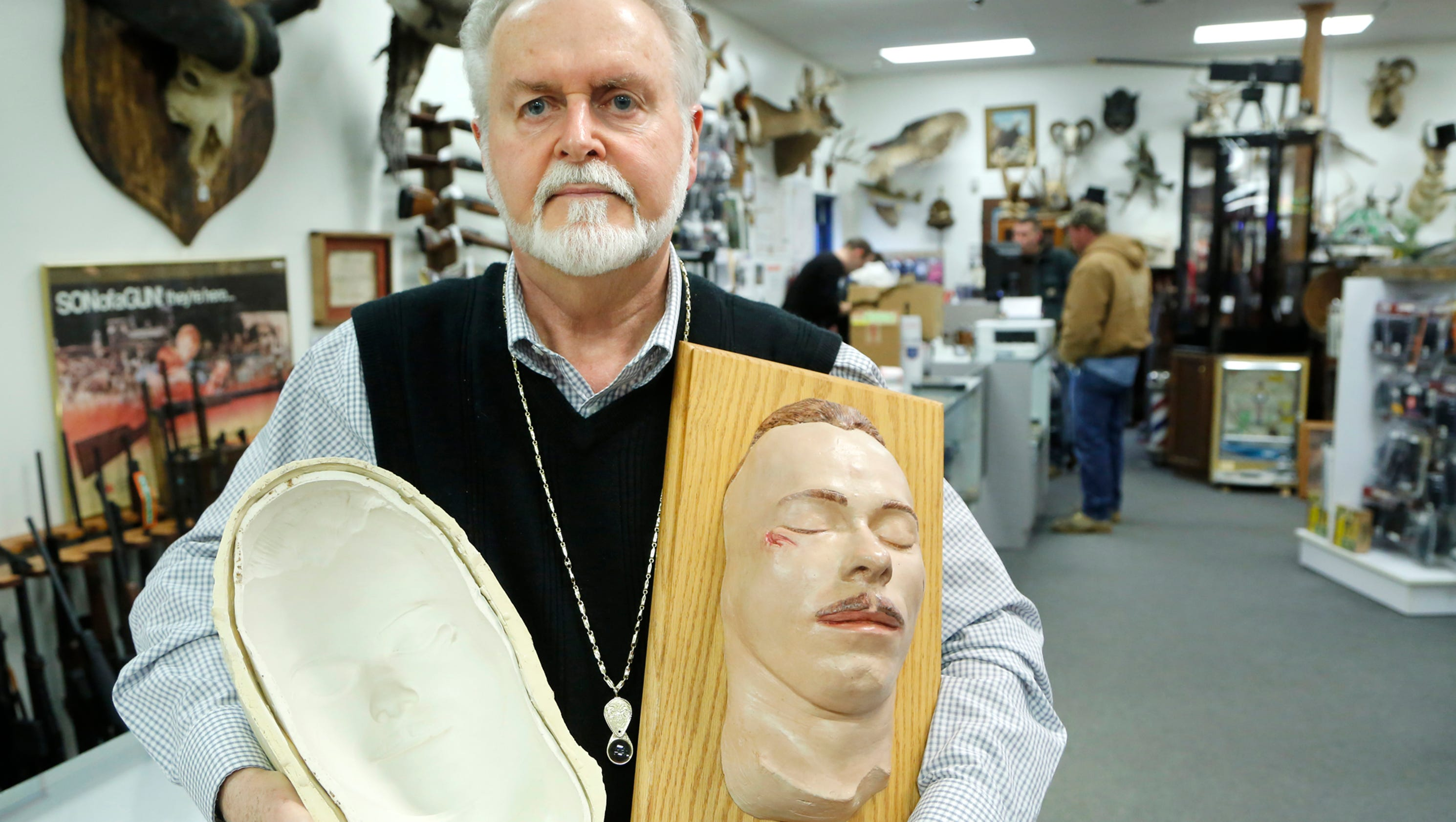 Death mask surfaces at local emporium for Lafayette cds 30