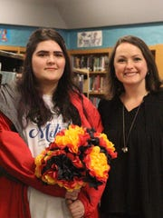 Kaitlyn Morgan, left, with Mentor: Wendy Chandler.