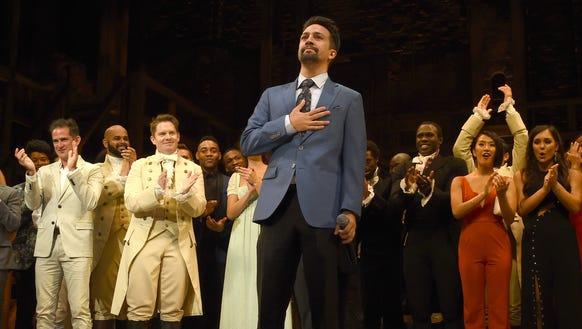 """My heart is full,"" 'Hamilton' creator Lin-Manuel Miranda"