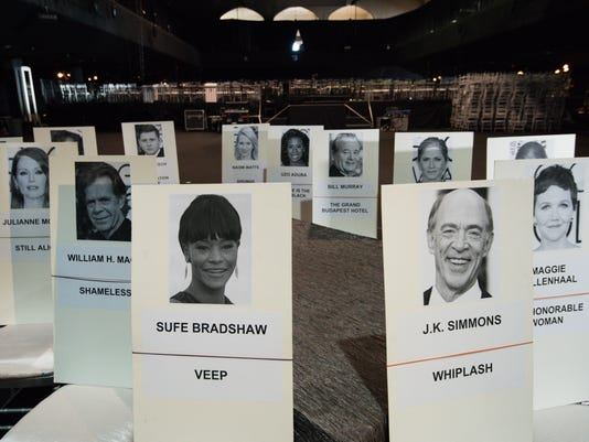 AP SAG AWARDS GREEN ROOM, CEREMONY AND POST AWARDS BEHIND THE SCENES A ENT USA CA
