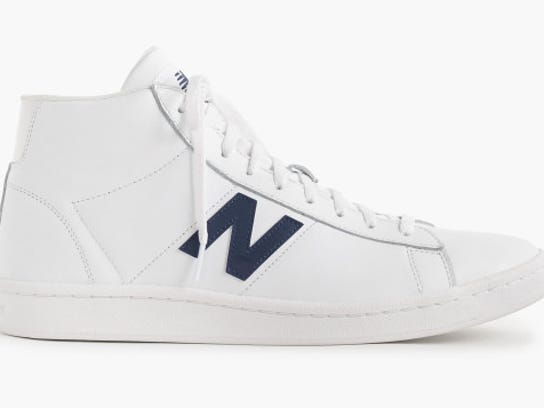 New Balance for J.Crew 891 leather high-top sneakers