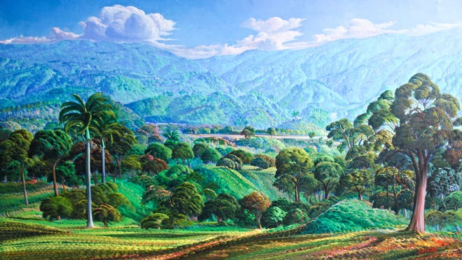 """Beyond Mountains"" by Adrien Seide is among the works on display at the Vassar Haiti Project's 16th annual benefit art sale Sept. 23-25 at Vassar College, Poughkeepsie."