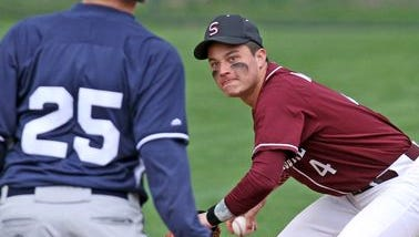 Suffern defeated Scarsdale 7-5 a varsity baseball game at Scarsdale High School April 23, 2015.