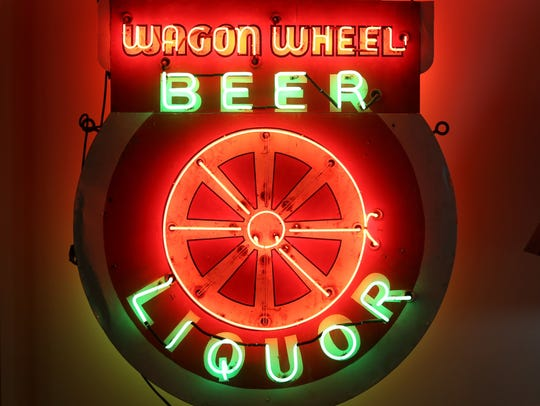 The Wagon Wheel at the American Sign Museum.