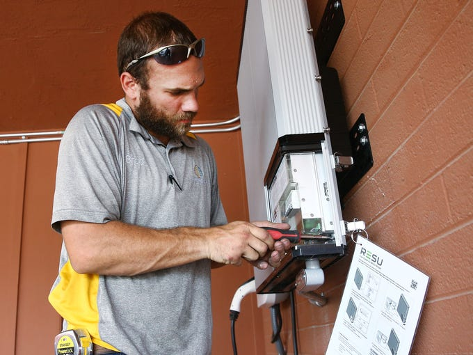 Brad Schlesak with Sun Valley Solar Solutions installs