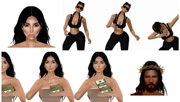 The updated KIMOJI app has new images and GIFs.