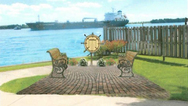 A Titanic memorial is planned for Nautical Park in Marine City.