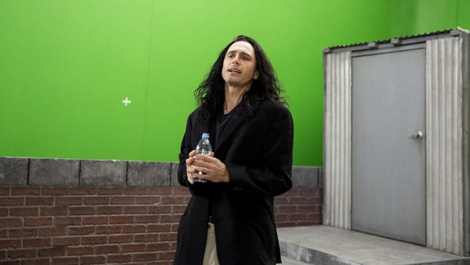 """James Franco plays an inept filmmaker and actor who is making a mess called """"The Room"""" in the film-within-a-film comedy """"The Disaster Artist,"""" opening Friday."""
