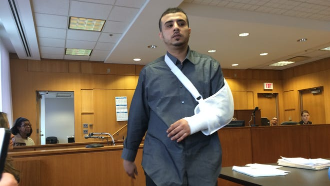 Salah Rifai, 29, testified Thursday in Wayne County Circuit Court that Marcus Weldon, 26, shot him and his friend at a gas station while Weldon was wearing a Santa suit.