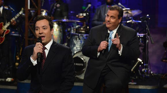 Gov. Chris Christie with Jimmy Fallon in June 2013. (Getty Images)