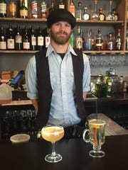 Blake Brown at Table 128 with his Backwards + Forwards and Iowan Late Autumn Toddy.