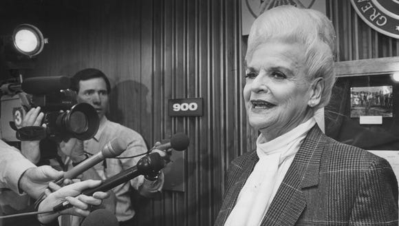 Then-Arizona Secretary of State Rose Mofford in 1988