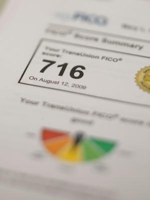 TransUnion FICO score of 716.