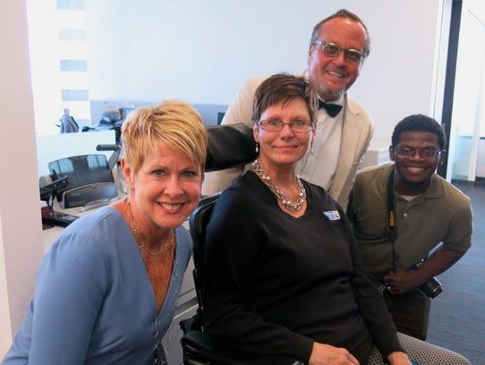 Times publisher Judi Terzotis with Lynn Stevens,  community