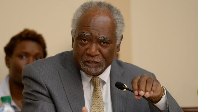 Rep. Danny Davis. D-Ill., co-chairs a July 2013 meeting of the Congressional Caucus on Black Men and Boys.
