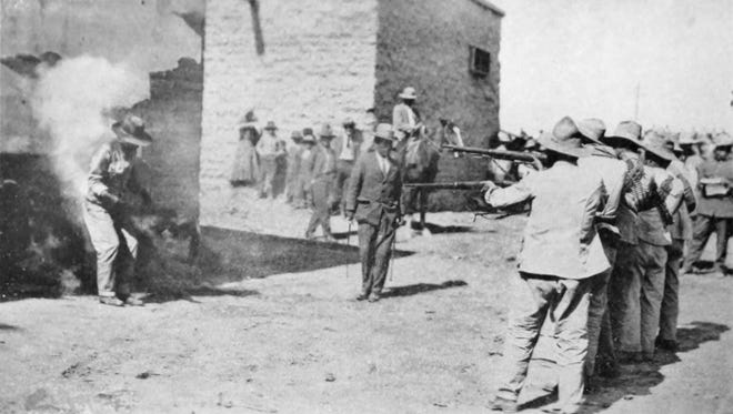 Old school execution from early 1900s Mexico.
