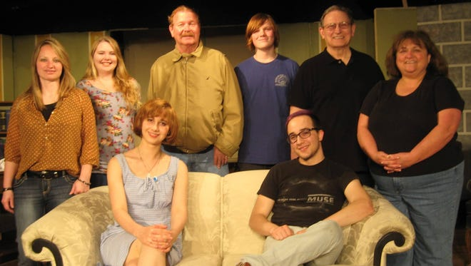 Olivia Wolfe, seated, from left and Andrew McCormick. Standing, Angie Cotter, Aubriana Chambers, Bill Simpson, Julien Noice, Clark Middleton, Karen McKaig. Not present, Patty Kotlicky.