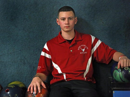 Rockland bowler of the year Nick Varano is photographed