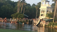 A picture taken at the Eagle Harbor community pool moments after a water slide collapsed.