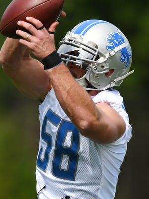 Lions linebacker Paul Worrilow is one of three candidates vying for the starting strongside job.