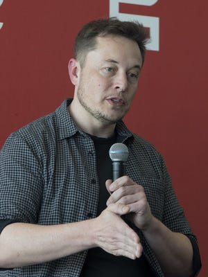 Motors Inc., CEO Elon Musk discusses the company's new Gigafactory Tuesday, July 26, 2016, in Sparks, Nev.