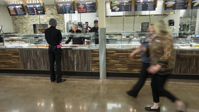 The 86,400-square-foot expansion of a Kroger store at 1217 S. Rangeline Road in Carmel includes a new hot bar and cafeteria. The expanded store will reopen Thursday morning.