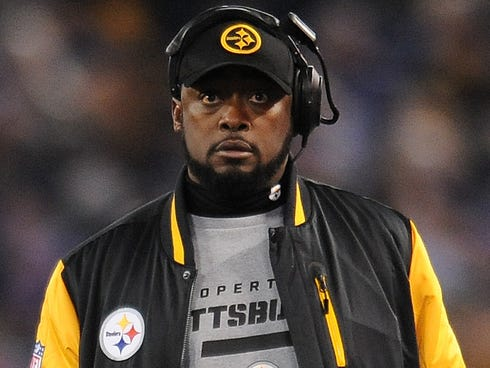 Steelers coach Mike Tomlin entered the field of play during Jacoby Jones' return along the sideline near the Pittsburgh bench.