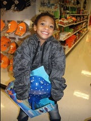 Junior Knox enjoyed shopping with a sheriff.