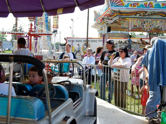 Families enjoyed games, rides and festival food at