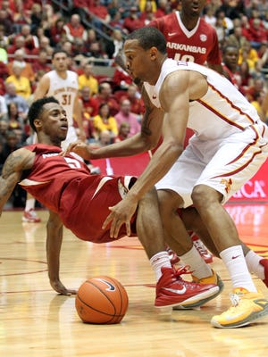 Iowa State guard Bryce Dejean-Jones, right, said he could feel the Hilton Magic on Thursday.
