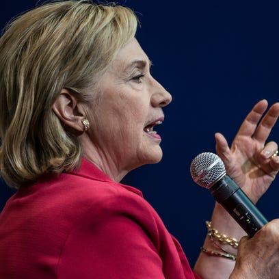 Hillary Clinton speaks in Greenville, S.C., on July