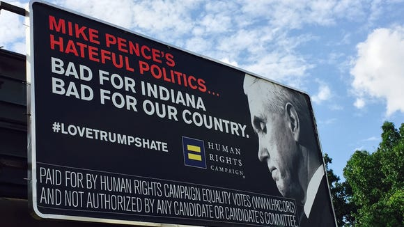 Human Rights Campaign, a gay rights group, rented a