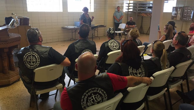 Bikers Against Abuse and Neglect of Children visited Bucyrus on Tuesday.