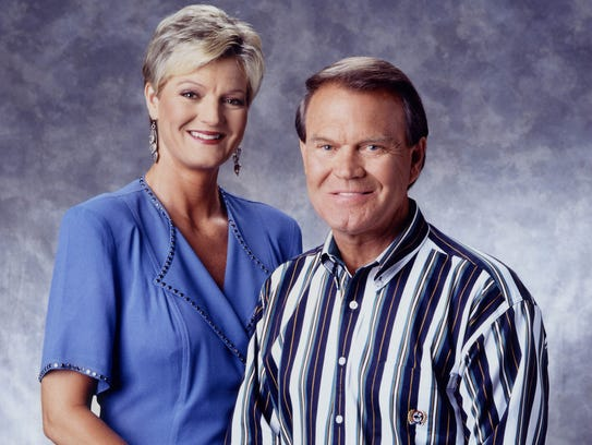 Glen Campbell with his daughter Debby