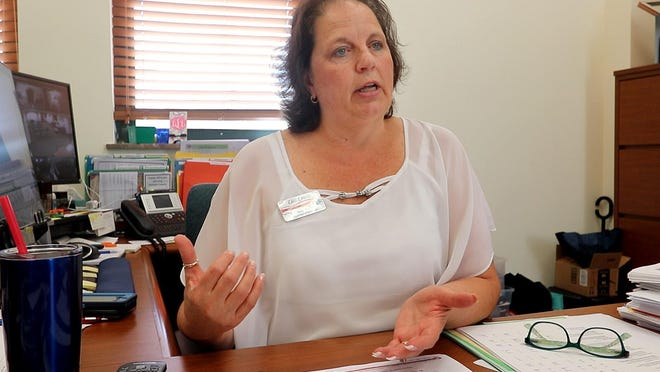 Volusia County Supervisor of Elections Lisa Lewis talks about election security from her office in the DeLand Historic Courthouse in this file photo.