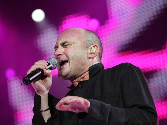 Phil Collins performs at Bercy music hall in Paris,