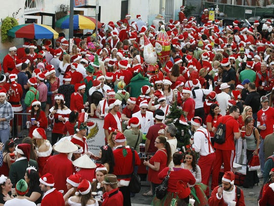 The Running of the Santas will be in Atlantic City