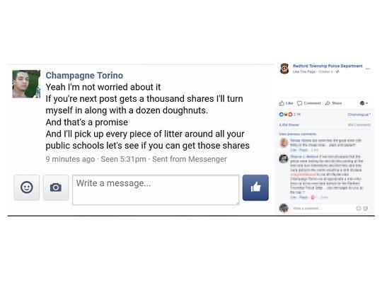 Screen grab of Michael (Champagne Torino) Zaydel's