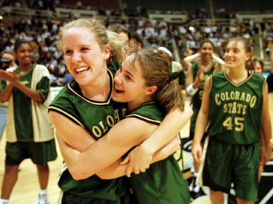 Colorado State University's Katie Cronin, left, and Becky Hammon were All-Americans on the 1998-99 team that went 33-3.