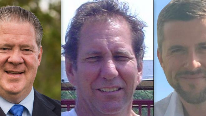 Candidates for Volusia County Council District 3, from left, include: Gary Conroy, John D'Hondt and Danny Robins.