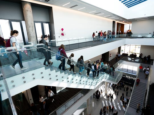 In October 2017, a ribbon cutting ceremony celebrated the expansion and renovation of MSU's Glass Hall.