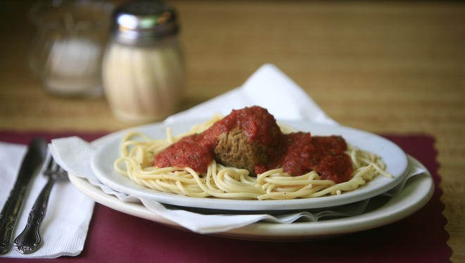 Spaghetti and meatballs at the Nanuet Hotel Restaurant.