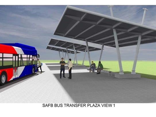 A rendering of a shelter at the future Sheppard Main