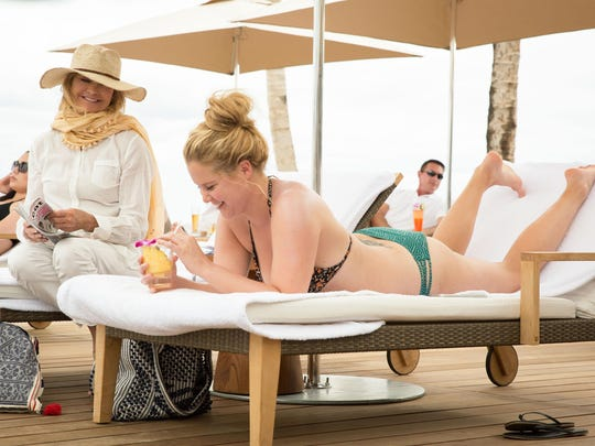 "Amy Schumer and Goldie Hawn star in ""Snatched."""