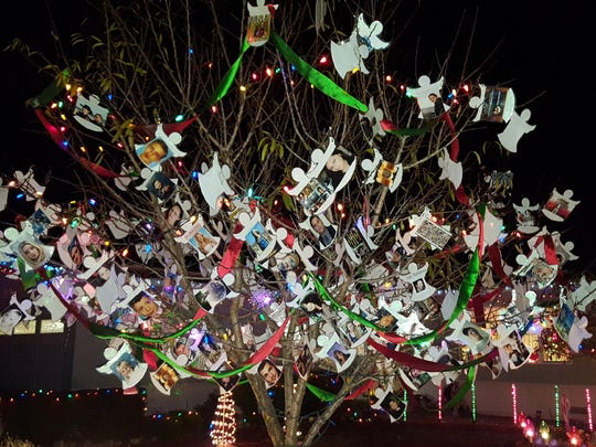 Joanne Higgins started the memorial tree last holiday